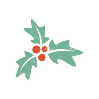 Christmas Vector Set 8 Vector Mistletoe 12 Clip Art - SVG & PNG vector
