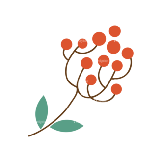 Christmas Vector Set 8 Vector Mistletoe Plant 13 Clip Art - SVG & PNG vector