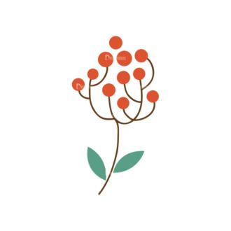 Christmas Vector Set 8 Vector Mistletoe Plant08 Clip Art - SVG & PNG vector
