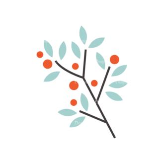 Christmas Vector Set 9 Vector Mistletoe Plant 13 Clip Art - SVG & PNG vector