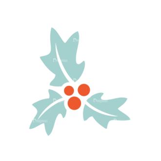 Christmas Vector Set 9 Vector Mistletoe Clip Art - SVG & PNG vector