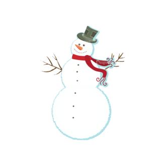 Christmas Vector Snowmen Vector Snowman 03 Clip Art - SVG & PNG vector