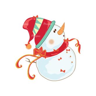 Christmas Vector Snowmen Vector Snowman 04 Clip Art - SVG & PNG vector