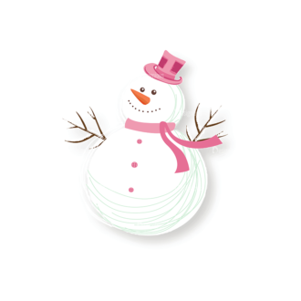 Christmas Vector Snowmen Vector Snowman 08 Clip Art - SVG & PNG vector