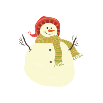 Christmas Vector Snowmen Vector Snowman 09 Clip Art - SVG & PNG vector