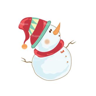Christmas Vector Snowmen Vector Snowman 11 Clip Art - SVG & PNG vector