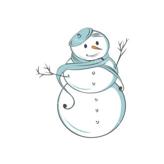 Christmas Vector Snowmen Vector Snowman 13 Clip Art - SVG & PNG vector