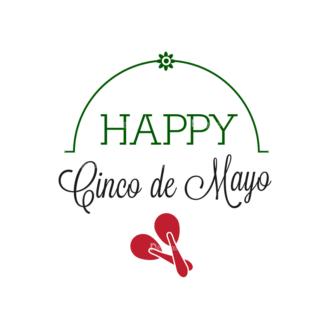 Cinco De Mayo Vector Elements Vector Happy Cinco 03 Clip Art - SVG & PNG vector