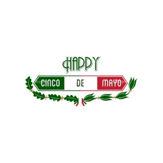 Cinco De Mayo Vector Elements Vector Happy Cinco 06 Clip Art - SVG & PNG vector
