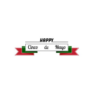 Cinco De Mayo Vector Elements Vector Happy Cinco Clip Art - SVG & PNG vector