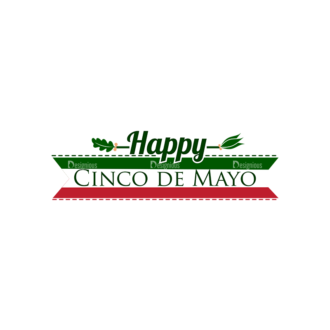 Cinco De Mayo Vector Elements Vector Happy Cinco 21 Clip Art - SVG & PNG vector