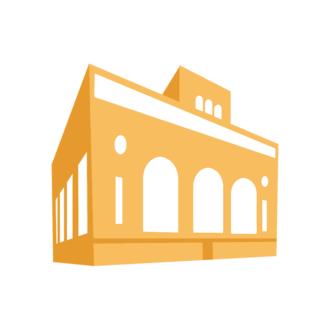Cityscape Icon Set Of Buildings Vector Building 07 Clip Art - SVG & PNG building