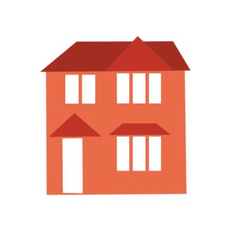 Cityscape Icon Set Of Buildings Vector House 04 Clip Art - SVG & PNG cityscape