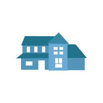 Cityscape Icon Set Of Buildings Vector House 06 Clip Art - SVG & PNG cityscape