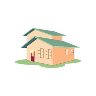 Cityscapes Vector Set 3 Vector House 09 Clip Art - SVG & PNG vector