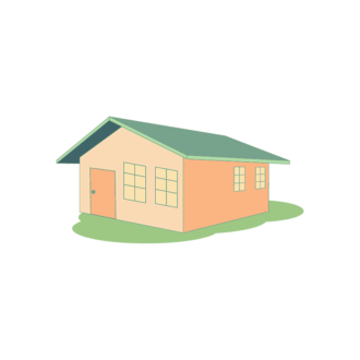 Cityscapes Vector Set 3 Vector House House 01 Clip Art - SVG & PNG vector