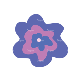 Colored Floral Decorations Set 25 Vector Flower 02 Clip Art - SVG & PNG floral