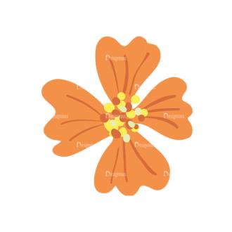 Colored Floral Decorations Set 25 Vector Flower 04 Clip Art - SVG & PNG floral