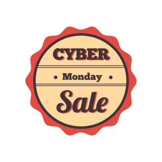 Cyber Monday Typography Vector Set 2 Vector  03 Clip Art - SVG & PNG vector