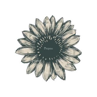 Decorative Flowers Vector Flower 04 Clip Art - SVG & PNG vector