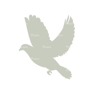 Decorative Valentines Day Vector Set 5 Vector Bird Clip Art - SVG & PNG vector