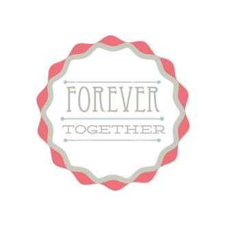 Decorative Valentines Day Vector Set 5 Vector Forever Together Clip Art - SVG & PNG vector