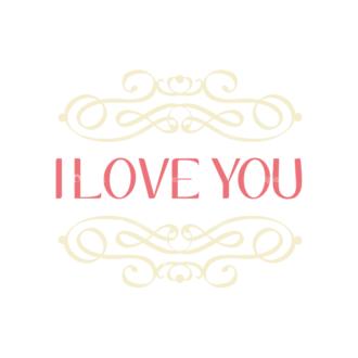 Decorative Valentines Day Vector Set 5 Vector I Love You Clip Art - SVG & PNG vector