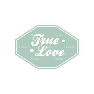 Decorative Valentines Day Vector Set 5 Vector True Love Clip Art - SVG & PNG vector