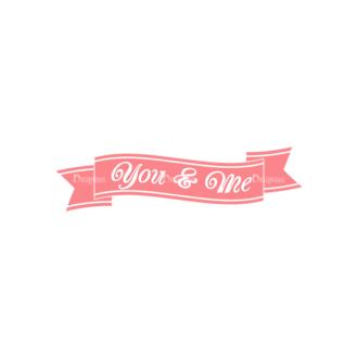Decorative Valentines Day Vector Set 5 Vector You   Me Clip Art - SVG & PNG vector