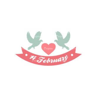 Decorative Valentines Day Vector Set 5 Vector February 14 Clip Art - SVG & PNG vector