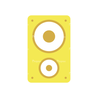 Disc Jockey Vector Speaker Clip Art - SVG & PNG vector
