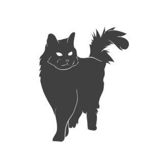 Domestic Animals Vintage Vector 3 Vector Cat Clip Art - SVG & PNG vector