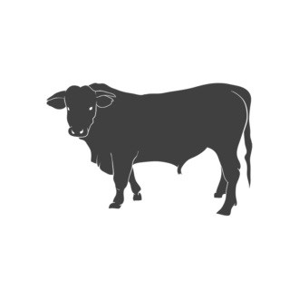 Domestic Animals Vintage Vector 3 Vector Cow Clip Art - SVG & PNG vector