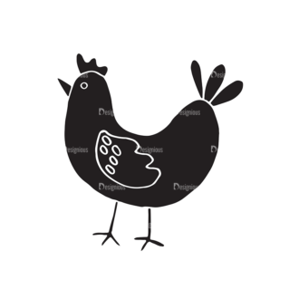 Easter Elements Set 1 Vector Chicken Clip Art - SVG & PNG vector