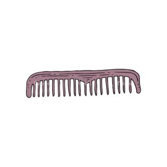 Engraved Barber Shop Vector Set 1 Vector Comb Clip Art - SVG & PNG vector