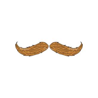 Engraved Barber Shop Vector Set 1 Vector Mustache Clip Art - SVG & PNG vector