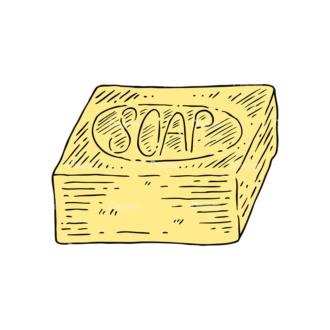Engraved Barber Shop Vector Set 1 Vector Soap Clip Art - SVG & PNG vector