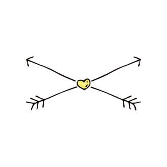 Engraved Decorative Valentines Vector Set 1 Vector Arrow Clip Art - SVG & PNG vector