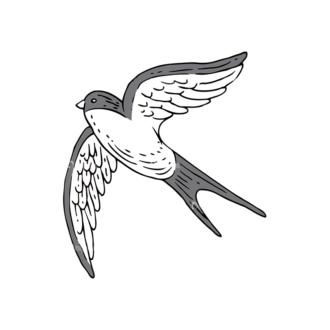 Engraved Decorative Valentines Vector Set 1 Vector Bird Clip Art - SVG & PNG vector