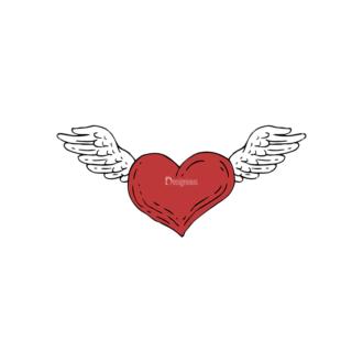 Engraved Decorative Valentines Vector Set 1 Vector Heart Clip Art - SVG & PNG vector