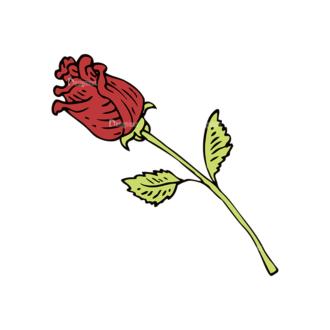 Engraved Decorative Valentines Vector Set 1 Vector Rose Clip Art - SVG & PNG vector