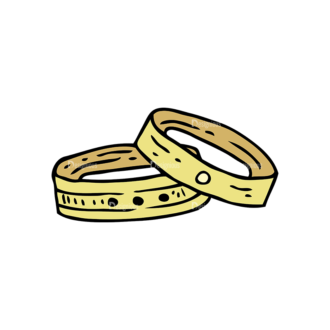 Engraved Wedding Design Vector Set 1 Vector Ring Clip Art - SVG & PNG vector
