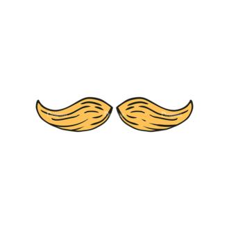 Engraved Wedding Elements Vector Set 1 Vector Mustache Clip Art - SVG & PNG vector