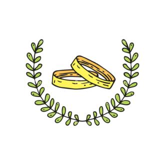 Engraved Wedding Elements Vector Set 1 Vector Ring Clip Art - SVG & PNG vector
