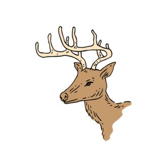 Engraved Wild Animals Vector 1 Vector Raindeer Clip Art - SVG & PNG vector