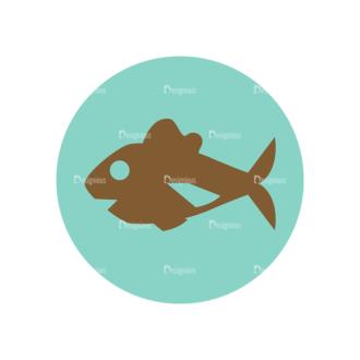 Farming Fresh Labels Set 2 Vector 16 Fish 01 Clip Art - SVG & PNG vector