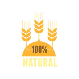 Farming Fresh Labels Set 2 Vector 100  Natural Clip Art - SVG & PNG vector