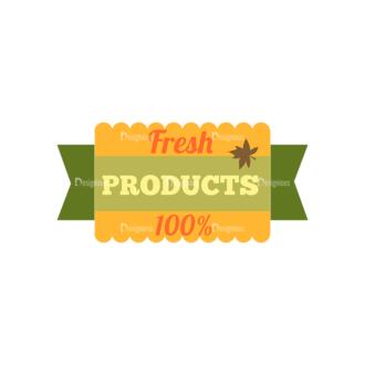 Farming Fresh Labels Set 2 Vector Text 14 Clip Art - SVG & PNG vector