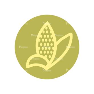 Farming Fresh Labels Set 2 Vector Corn 12 Clip Art - SVG & PNG vector