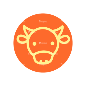 Farming Fresh Labels Set 2 Vector Cow Clip Art - SVG & PNG vector